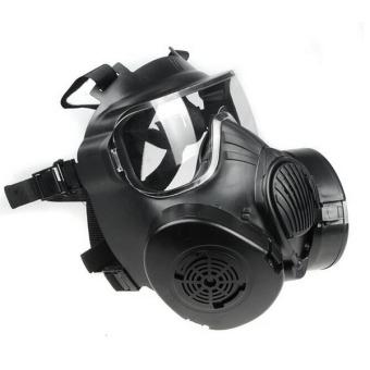 M50 Paintball Full Face Skull Gas Mask Black - 5
