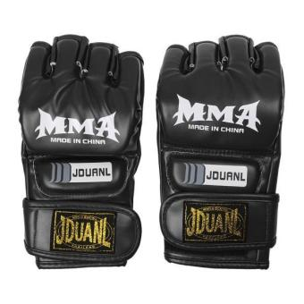 MagiDeal MMA UFC Grappling Thai Gloves Fight Boxing Punch Bag Training Pads Black - intl