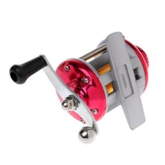 MagiDeal Right Hand Ice Fishing Spinning Drum Reel Metal BaitcastCoil Roller red - intl