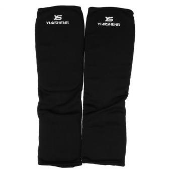 MagiDeal Taekwondo Karate MMA Shin Instep Protector Leg Foot Guard Cloth Pad S Black - intl - 2