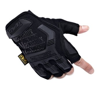 Mechanix Gym Tactical Fitness Gloves Army Military Sport Motorcycle Half Finger Fingerless Men Black