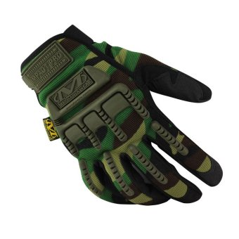 Mechanix Men Gloves Wear M-Pact Military Tactical Army MotocycleBicycle Shooting Gloves Green