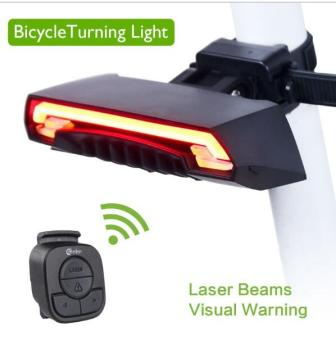 Meilan X5 Smart Rear Bicycle Light Bike Lamp Laser LED USBRechargeable Wireless Remote Turning Control Cycling Bycicle Light- intl
