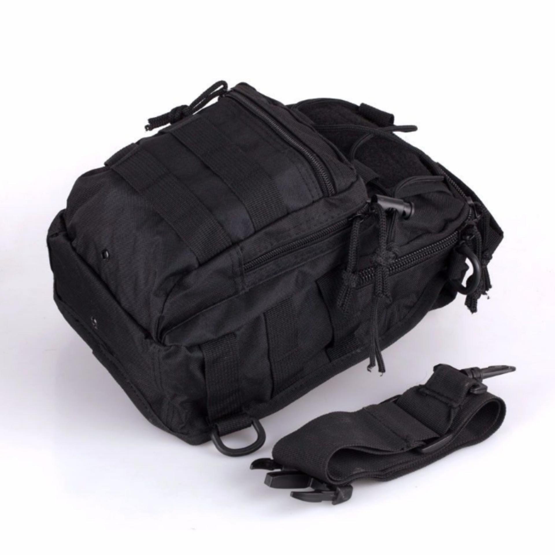 17b32e8a3a ... Men Tactical Outdoor Sport Crossbody Sling Shoulder ChestWaterproof Bag  Backpack ...