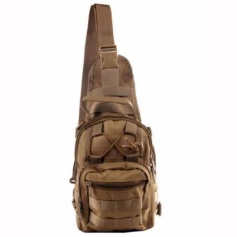 Men Tactical Outdoor Sport Crossbody Sling Shoulder ChestWaterproof Bag Backpack (Khaki)