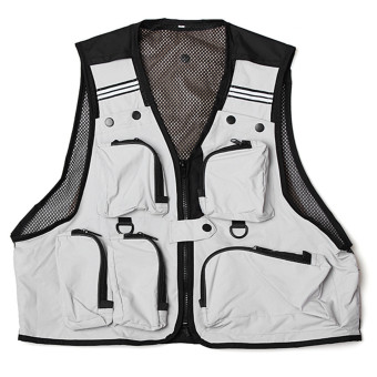 Mens Multi Pockets Vest Outdoor Sports Fishing Camping Size XL
