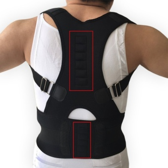 Mens Posture Corrector Orthopedic Posture Corset Back Support Beltback Brace Support Men Back Straightener Round Shoulder ,Black - intl Price Philippines