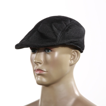 Mens Vintage Flat Cap Hat Beret Black Price Philippines