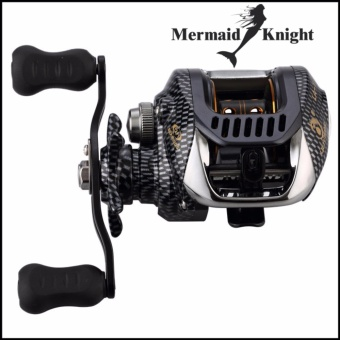 MermaidKnight 12+1BB Double Bait Casting Fishing Reel Brake Fishing Lure Spinning Reel Gear Water Drop Fish Wheel Right or Left - intl
