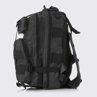 Military Tactical Backpack Small Rucksacks Hiking Bag OutdoorTrekking Camping Tactical Molle Pack Men Tactical Combat Travel Bag20-35L Black - intl - 2