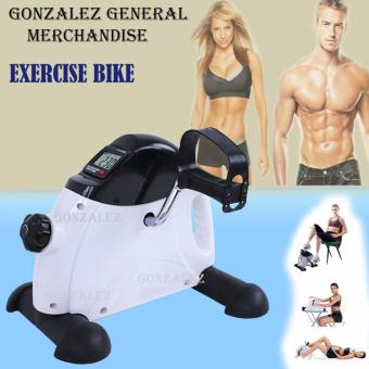Mini Bike Pedal Exerciser w/ LCD Display (White-Black)