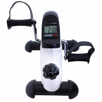 Mini Bike Pedal Exerciser w/ LCD Display (White-Black) - 5