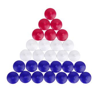 Mixed Color Plastic Golf Ball Markers 50Pcs - picture 2