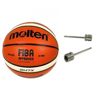 Molten GM7X X-Series Indoor/Outdoor Basketball Fiba Approved(Orange) with Basketball Pin