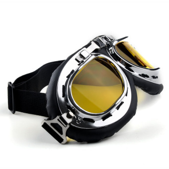 Moonar Motorcycle Windproof Filter Sports Blinkers Goggles (Yellow)