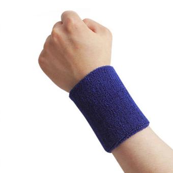 Moonar Sports Outdoors Wristband Wrist Protector Dark Blue