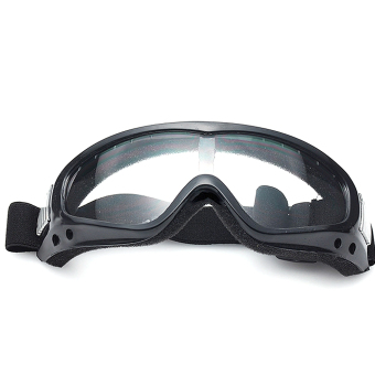 Motorcycle Cycling Mountain Climbing Skiing Protection GlassesGoggle Windproof Sports Sunglasses Safety Goggles Transparent