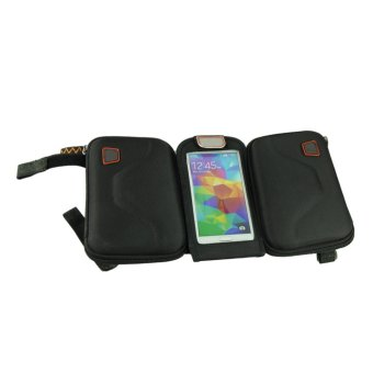 Mountain Bike Bilateral Cell Phone Pocket Tube Outdoor Sports Saddle Bag Black - picture 2