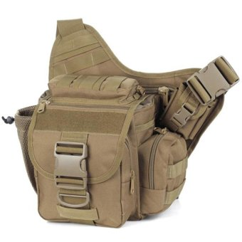 Multi-functional Molle Tactical Military Messenger Shoulder SLR Camera Bag Pack for Hiking Camping Trekking Cycling - intl
