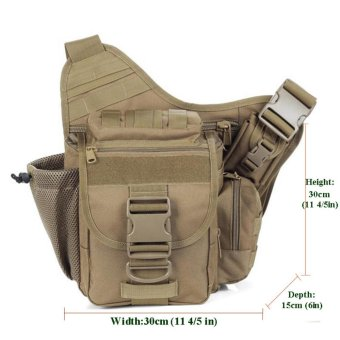 Multi-functional Molle Tactical Military Messenger Shoulder SLR Camera Bag Pack for Hiking Camping Trekking Cycling - intl - 3