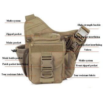 Multi-functional Molle Tactical Military Messenger Shoulder SLR Camera Bag Pack for Hiking Camping Trekking Cycling - intl - 2
