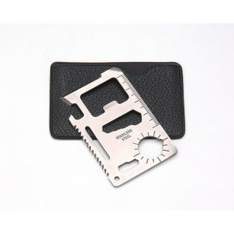 Multifunction 11-in-1 Stainless Steel Pocket/Wallet Survival Tool