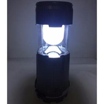 Multifunctional LED Solar Camping Lamp Portable Family EmergencyLight Rechargeable Lantern With Fan(Gray) - 5