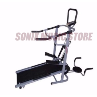 Muscle Power 8022 4-in-1 Magnetic Manual Treadmill
