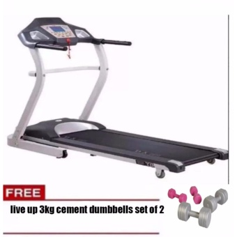 Muscle Power Motorized Treadmill 1306 FREE 3KG LIVE UP CEMENT DUMBBELL