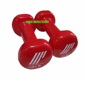 Muscle Power Vinyl Dumbbell 3lbs (set of 2)