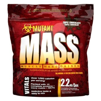 Mutant Mass Muscle Mass Gainer, 5lbs (Triple Chocolate)