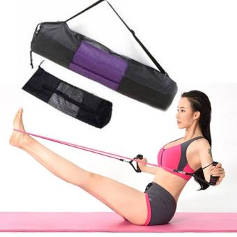 New Convenience Black Portable Yoga Mat Bag Nylon Mesh Adjustable Strap - intl