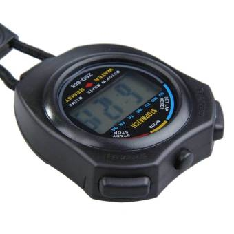 New Digital Running Timer Chronograph Sports Stopwatch Counter with Strap - picture 2