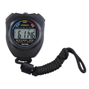 New Digital Running Timer Chronograph Sports Stopwatch Counter with Strap