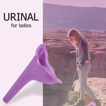 New Female Women Travel Camping Toilet Accessories Outdoor PortableUrinal Funnel (Purple) - intl