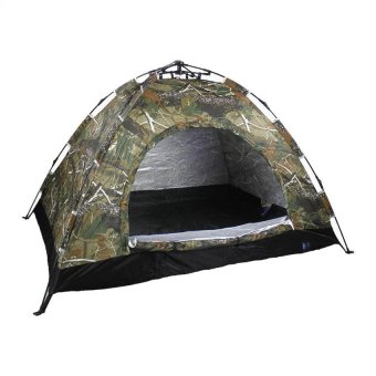 New Outdoor 3 Person Automatic Camping and Backpacking Tent Easy Set Up (Camouflage)