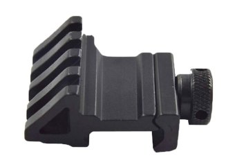 niceEshop 45 Degree Offset Rail Mount with Picatinny /Weaver Style Rail Mount(Black)