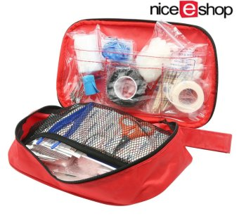 niceEshop First Aid Kit, 180 Pcs Lightweight and Durable Medical Trauma Kit for Car Sports Hiking Travel Emergency Survival Camping Home