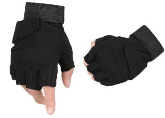 niceEshop Half-finger Airsoft Hunting Riding Gloves(Black,XL) - Intl