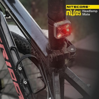 NITECORE NU05 KIT 35 Lumens White/Red Light High Performance 4xLEDs Lightweight USB Rechargeable Outdoor Headlamp Mate for Outdoor Hiking Camping Running Cycling - intl - 3