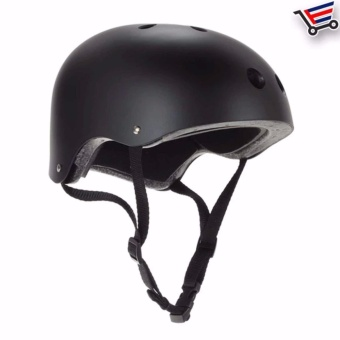 Nutshell Protection Headgear Helmet for Motor/Bike Sports (MatteBlack)