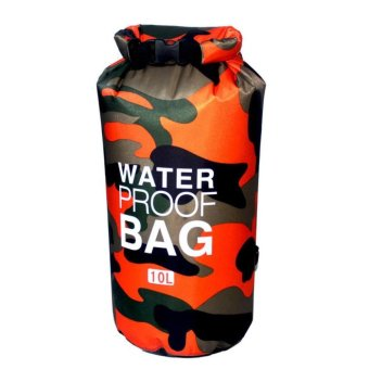 Ocean Pack Waterproof Dry Bag Camouflage 10L(ORANGE)