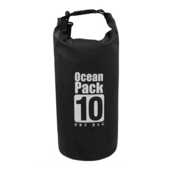 Ocean Pack Waterproof Floating Dry Bag 10L ideal for Outdoor Sports(Black)