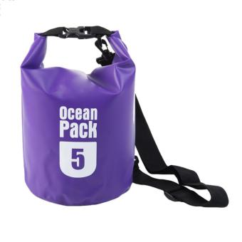 Ocean Pack Waterproof Floating Dry Bag 5L ideal for Outdoor Sports(Violet)