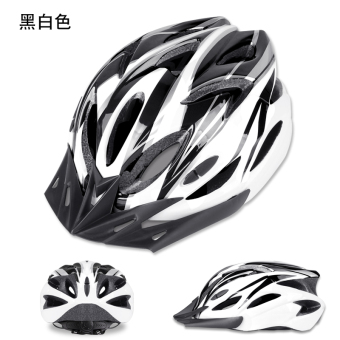 One-piece piece bicycle helmet riding helmet