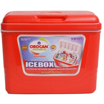 Orocan Ice Box Chest Insulated Cooler 15-Liters (Red)
