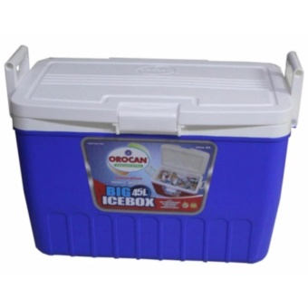 Orocan Ice Box Chest Insulated Cooler 45-Liters (Blue)