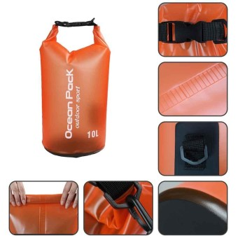 Outdoor Backpack Kayak Ocean Pack Waterproof Dry Bag Sack MultiColor 15L - intl