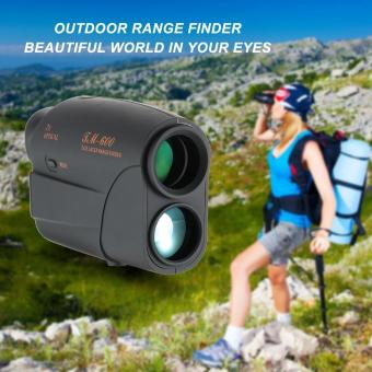 Outdoor Compact 7X25 Rangefinder 600m Range Finder Golf Rangefinder Hunting Monocular Telescope Distance Meter Speed Tester - intl