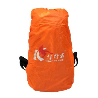 Outdoor Living Rain-proof Bag Cover for 50-80L Backbag Orange